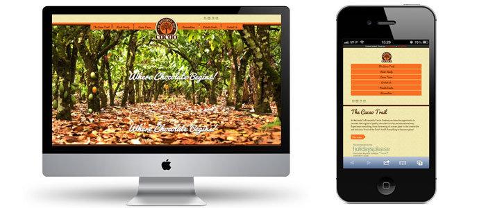responsive design el sendero del cacao