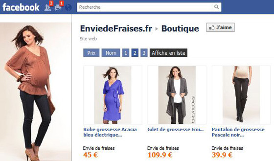 Facebook boutique