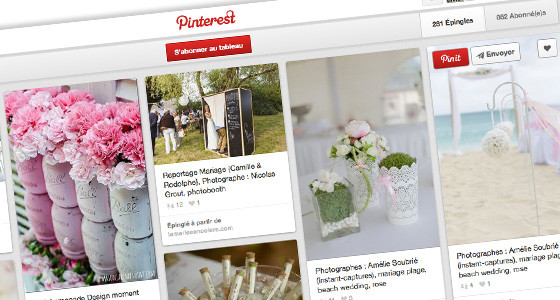 page Pinterest