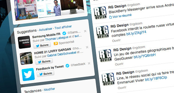 page twitter RG Design