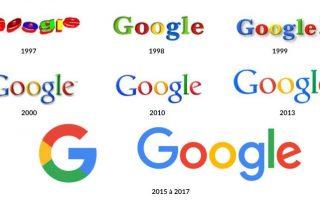 evolution logo google vers flat design