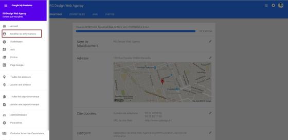 google my business et google maps