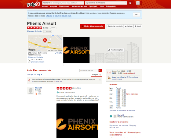 yelp site annuaire pour phenix airsoft