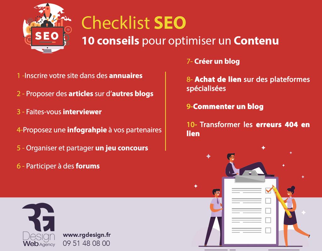 checklist SEO backlinks