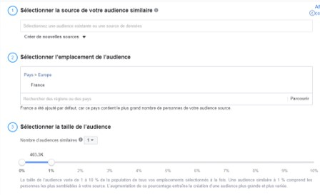 campagne facebook audience similaire