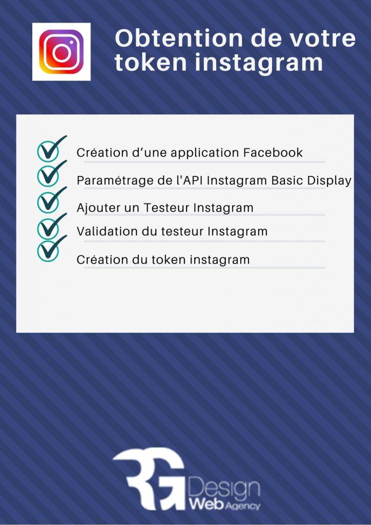 liste des étapes pour obtenir un token instagram