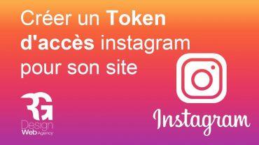 Créer un token instagram pour avoir un instagram feed sur votre site