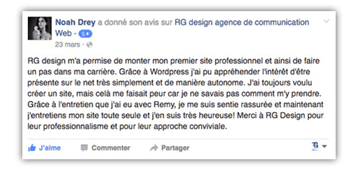 Commentaire Facebook Noah Drey