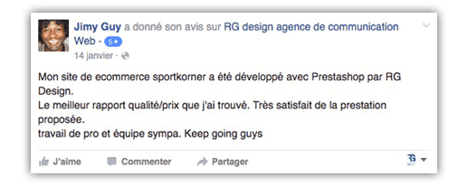 Commentaire Facebook Sport Korner